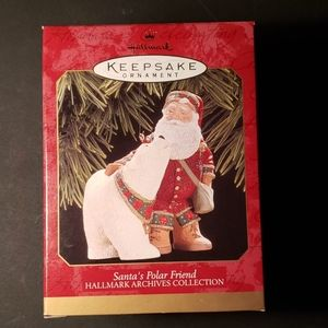 Hallmark Ornament Santa's Polar Friend